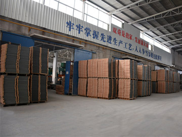 Steel floor production area